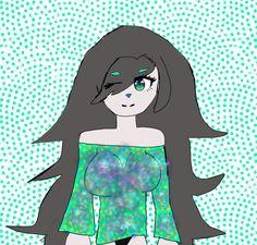 Kawaii in cute teal shirt by Rem12356 (eye base and nebula base used)