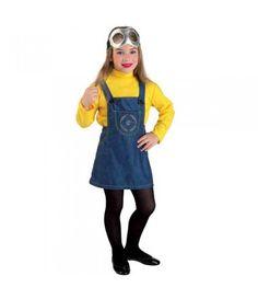 Στολή παιδική Minion με φόρεμα για κορίτσια