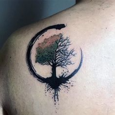 60 Cool Tree Tattoos For Men - Nature Inspired Ink Design Ideas - Tree Tattoo Men, Tree Tattoo Designs, Tattoo Designs For Women, Forest Tattoos, Nature Tattoos, Large Tattoos, Hand Tattoos, Tattoo Sketches, Tattoo Drawings
