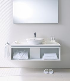 Duravit - Bathroom design series: Washbowls - surface mounted basins from Duravit. Sink Units, Vanity Units, Duravit, Philippe Starck, Countertop Basin, Countertops, Next Bathroom, Bathroom Ideas, Powder Room Vanity