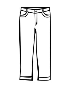 jeans coloring page