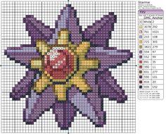 Birdie Stitching Pokemon Pattern - 121 Starmie