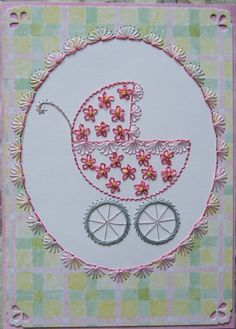 Embroidered Baby Carriage. site has free patterns