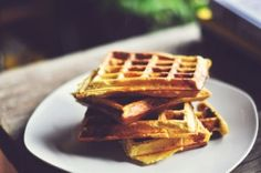 Hemp Protein Pumpkin Waffles (can substitute applesauce and mashed banana if you do not have mashed pumpkin)