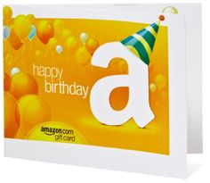 Amazon Gift Card to Print at the last minute! Brilliant! Happy Birthday (Balloons)