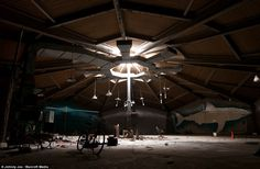 Inside Cleveland's abandoned aquarium, Ohio, complete with ghostly shark untouched on the ... http://dailym.ai/1mEsTfG#i-5ed60d47