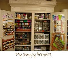 Sewing Closet Organizer | If you would like more details on how I transformed the room you can ...