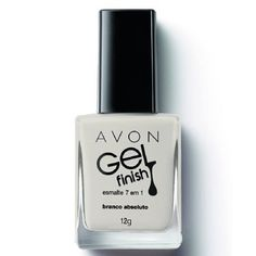 Avon Gel Finish Esmalte 7 em 1 Branco Absoluto 12ml 50753-2