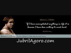 """Madam C. J. Walker, First Female Millionaire """" First Black Millionaire """""""