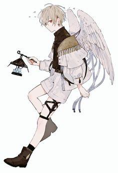 met the boy with wings. And finally, he laughs. Anime Chibi, Kawaii Anime, Anime Angel, Cute Anime Boy, Anime Guys, Anime Characters Male, Anime Boy Zeichnung, Estilo Anime, Boy Art