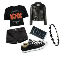 """""""Untitled #5"""" by echo-davis on Polyvore featuring Acne Studios, Boohoo, Converse and Killstar"""