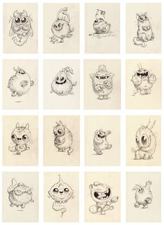 CHRIS RYNIAK: January Drawing Sale Preview! Monster art Chris Ryniak | Drawings | Sculptures