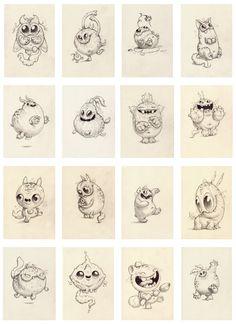 CHRIS RYNIAK: January Drawing Sale Preview! Monster art Chris Ryniak | Drawings | Sculptures