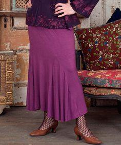 Look at this #zulilyfind! Purple Jessie Asymmetrical Skirt #zulilyfinds