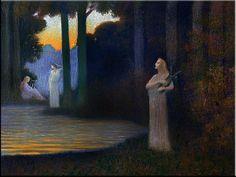 Lyrisme dans la forêt - Alphonse Osbert (1857-1939)