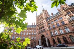 Fronting St. Pancras Station is the iconic 140-year-old home of the St. Pancras Renaissance Hotel (reopened in 2011), whose Booking Office bar was once the station's ticket room. Photo by Mark Parren Taylor.