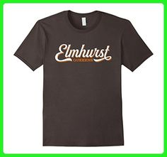 Mens ELMHURST NY T-Shirt : Retro Queens New York City Tee 2XL Asphalt - Retro shirts (*Amazon Partner-Link)