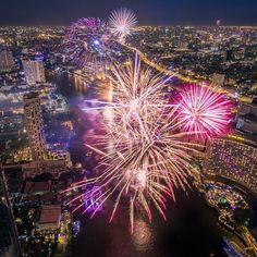 """droneheroes: """"Amazing nightshot during Loy-Kra-thong Festival in Thailand  captured with a DJI Phantom 3 Professional #droneheroes // Photo by Payont Thanasatirakul"""""""