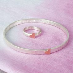 personalised hammered heart ring or bangle by carole allen silver jewellery | notonthehighstreet.com