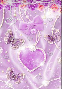 Flower Iphone Wallpaper, Diamond Wallpaper, Bright Wallpaper, Bling Wallpaper, Heart Wallpaper, Purple Wallpaper, Butterfly Wallpaper, Purple Backgrounds, Butterfly Art