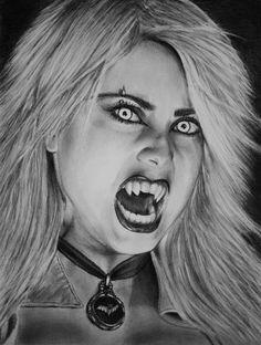 "Pop singer Sindy Rush as Katya the Vampire in the 2009 action-horror flick ""The Bleeding"". Vampire Fangs, Female Vampire, Vampire Girls, Vampire Art, Goth Beauty, Dark Beauty, Dracula, Vampire Pictures, Hot Goth Girls"
