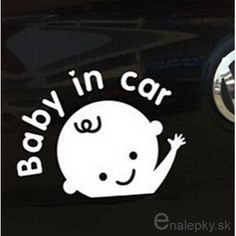 "Vinyl Sticker X2 /""Baby In Car/"" Waving Baby on Board Safety Sign Car Decal"