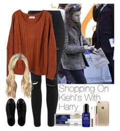 """»Shopping On Kiehl's With Harry."" by storyofmylife1danita-scream on Polyvore featuring Topshop, Kiehl's, Rifle Paper Co and Converse"