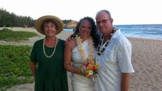 Karen and Brian renew their wedding vows today at shipwreck beach October 5th