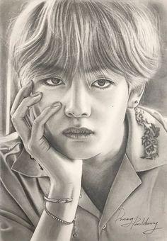 Kpop Drawings, Pencil Art Drawings, Art Drawings Sketches, Look Wallpaper, Bts Wallpaper, Taehyung Fanart, Celebrity Drawings, Fan Art, Bts Chibi