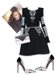 """Untitled #530"" by cogic-fashion on Polyvore featuring Chanel, Christian Louboutin and Givenchy"