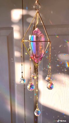 Room Ideas Bedroom, Bedroom Decor, Crystal Aesthetic, Hanging Crystals, Cute Room Decor, My New Room, Suncatchers, Decoration, Room Inspiration