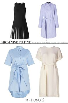 33ca4714163 Go from nine to fine in these beautifully tailored dresses perfect for the  office or Happy