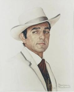 Mike Connors RIP Jan 2017 (painted by Norman Rockwell) star of Mannix.