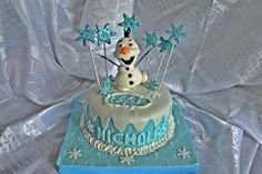 FROZEN CAKE WITH OLAF. TORT FROZEN CU OLAF