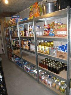 #Prepper - excellent #foodstorage organization. More pics on link #Prepperpantry
