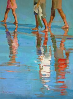 The artist Erin Fitzhugh Gregory 37 wonderful works - Gouache Painting Painting People, Figure Painting, Painting & Drawing, Erin Gregory, Guache, Fine Art, Beach Art, Figurative Art, Oeuvre D'art