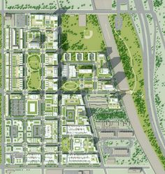 Verdant Urban Oasis: Master Plan For Housing Development By Urban Design Concept, Urban Design Diagram, Urban Design Plan, Landscape Plans, Urban Landscape, Architecture Site Plan, Site Development Plan Architecture, Architecture Diagrams, Architecture Portfolio