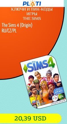 The Sims 4 (Origin) RU/CZ/PL Ключи и пин-коды Игры The Sims