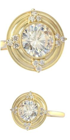 Erika Winters Thea Halo ring with diamonds and a European-cut centre stone - diamond sold separately.