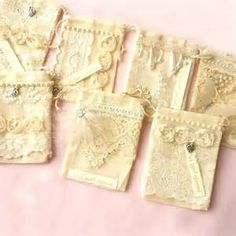 Shabby Chic Favour Bags from More Chic Than Shabby