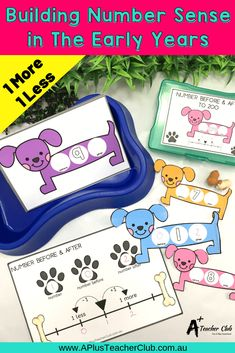 This Delightful Dogs Numbers Before and After Number Sense Printable is so much fun for Kindergarten, First & Second Graders. This Math Center Activity is perfect for building number sense about the numbers before and after the 1 - Numbers Kindergarten, Teaching Numbers, Teaching Plan, Teaching Math, Math Literacy, Math Class, Carpe Diem, Preschool Learning, Educational Activities