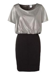 OILIA SS SHORT DRESS, Black, main