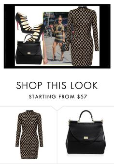 """""""..."""" by ma-nouvelle-vie-en-rose ❤ liked on Polyvore featuring Jennifer Lopez, Christian Louboutin and Dolce&Gabbana"""