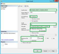SQL Server Audit DATABASE_OBJECT_CHANGE_GROUP