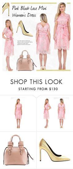 """4. DesirVale : Pink Blush Lace Mini Women's Dress Round Neck V Back Short Sleeves Sash"" by novalikarida ❤ liked on Polyvore featuring Yves Saint Laurent"