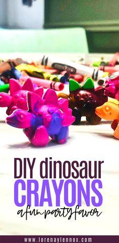 The Perfect Goody Bag Treat — Lorena & Lennox Bilingual Beginnings Infant Activities, Activities For Kids, Crafts For Kids, Dinosaur Activities, Birthday Activities, Diy Birthday, Birthday Parties, Third Birthday, Diy Crayons