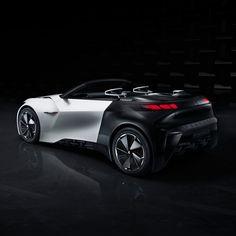 Peugeot Fractal: un vehículo generado con una impresora 3D y cuyo sonido se asemeja al de una nave espacial.