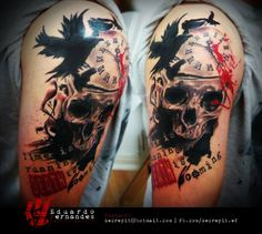 Tattoo Skull (Time is Runnig Death is coming)
