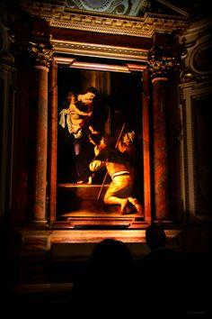 Roma - Madonna dei Pellegrini di Caravaggio, by Luca Parravano