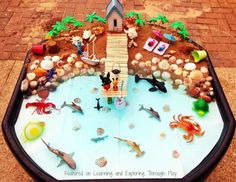 Learning and Exploring Through Play: Seaside Small World Tuff Tray